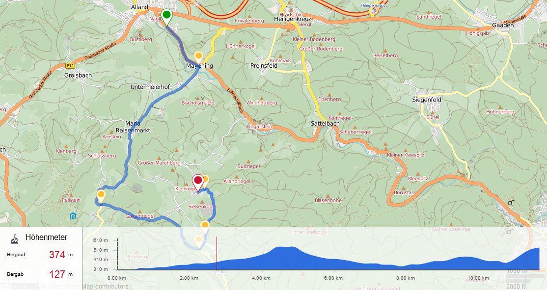 Kartenansicht Strecke Zeitfahren 4 am 19.05.2017