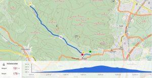 Kartenansicht Strecke Zeitfahren 1 am 28.04.2017